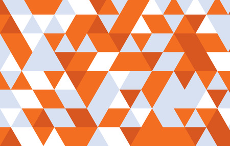 orange triangle pattern background.geometric abstract vector design template.