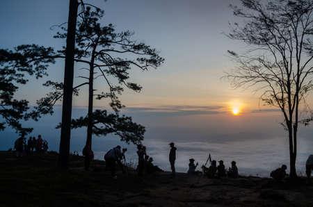 kradueng: sunrise at Phu Kradueng national park, Thailand Stock Photo
