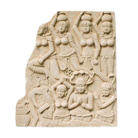 mahabharata: bas relief Stock Photo