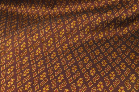 Handmade woven fabrics in thai photo