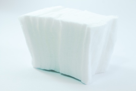 cubes of cotton with white background photo