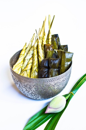 Thailand traditional dessert for give alms to a Buddhist monk Stock Photo