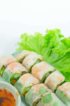 vietnamese food  pork   shrimp salad rolls