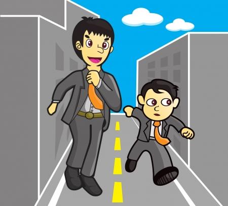 viewfinderchallenge1: two businessman Running
