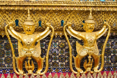 Thailand  The Grand Palace  Temple of the Emerald Buddha  Gold ornamental pattern statuettes  photo