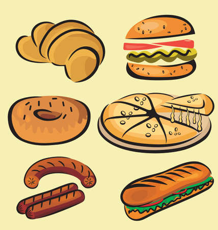 Vector Illustration of fast food  Vector