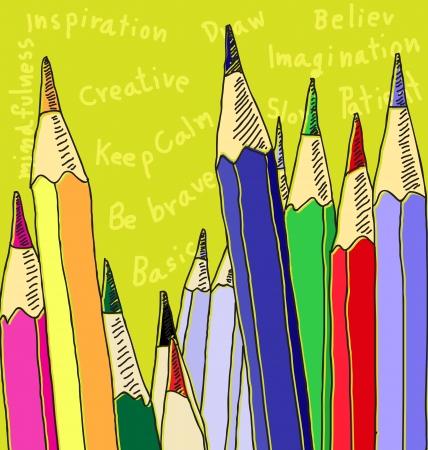 vector illustration of color pencil Illustration