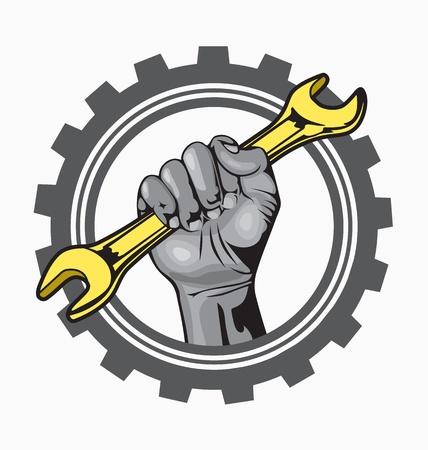 auto service logo Stock Vector - 20369310