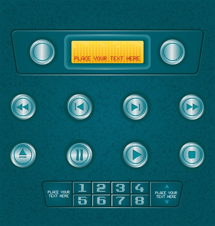 vector illustration of  music botton