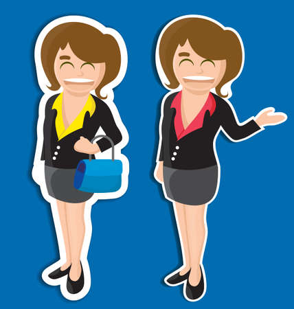 vector illustration of  business girl Stock Vector - 21316356