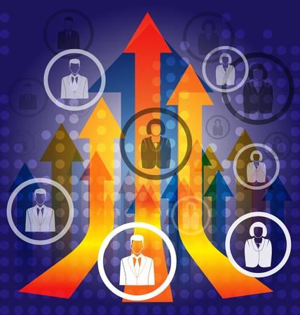 vector illustration of  business background