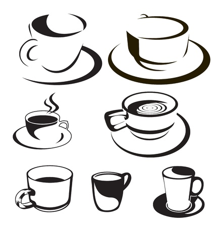 vector set of coffee cup