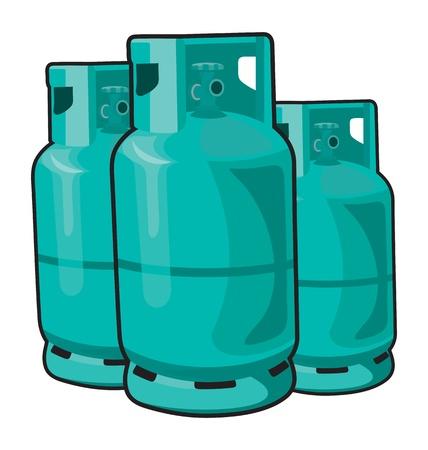 cilindro de gas propano aislado en un fondo blanco