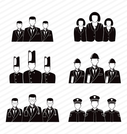 career icon: vector illustration of  career icon set