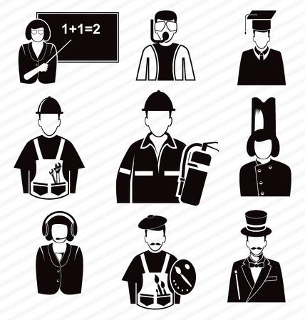 handy man: illustrazione vettoriale di occupazione set