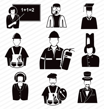 vector illustration of  occupation set Vector