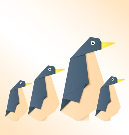 vector illustration of   penguin family Stock Vector - 21316409