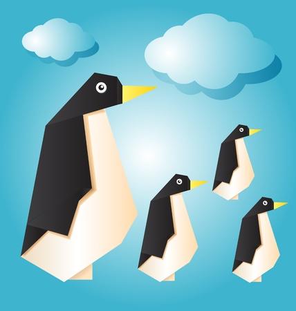 vector illustration of penguin family Stock Vector - 21316410