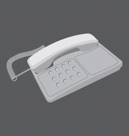 vector illustration of telephone Vector