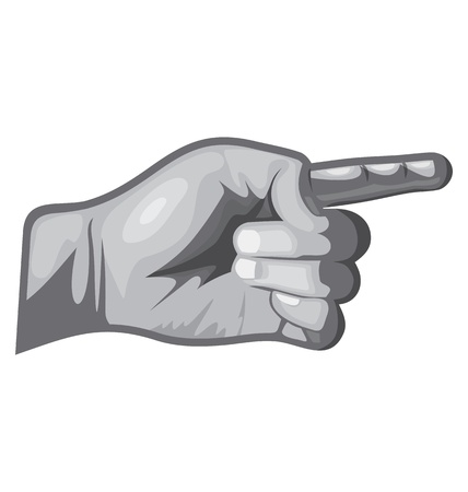 symbole: vector illustration of  pointing by forfinger