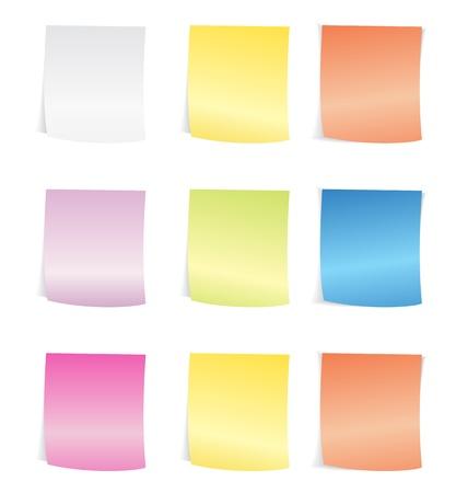 Vector Illustration of sticky notepad Stock Vector - 21316414
