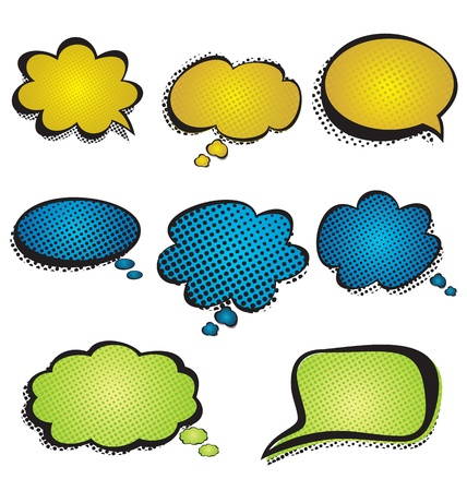 vector illustration of  speech bubble set Vector