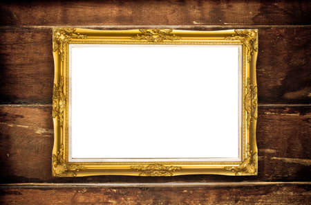 frame on wooden texture