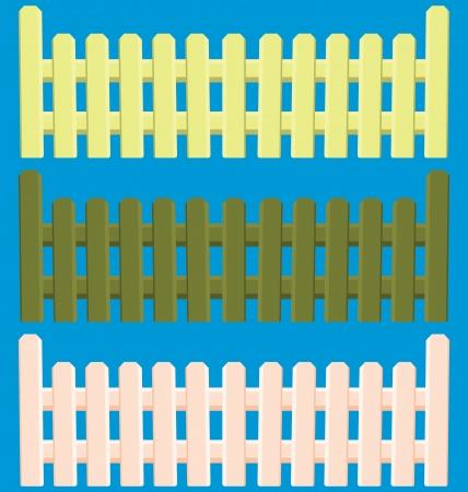 enclosure: illustration of  wooden fence set  Illustration