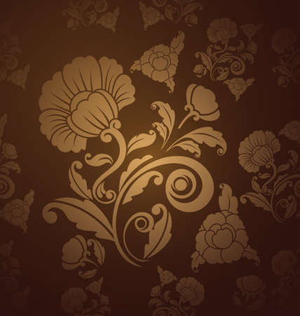Damask  floral pattern  Vintage vector illustration