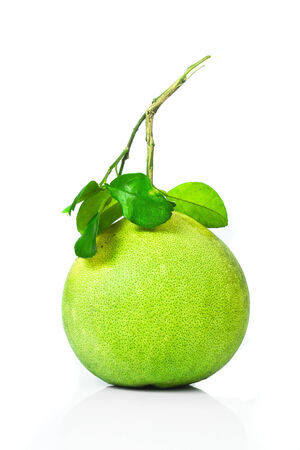 citrus maxima: pomelo fruit on white background Stock Photo