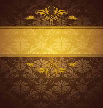 Vector Illustration  of  floral card background