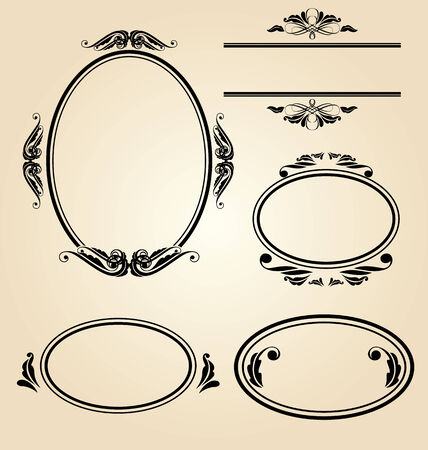 picture card: Vector Illustration  of  vintage frame Illustration