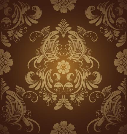 floral pattern  Vintage vector illustration