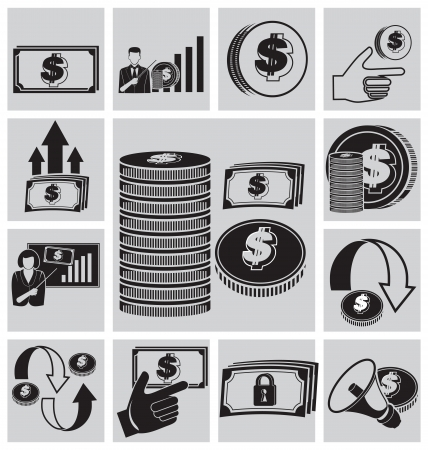 auctioning: Finance and business vector icon