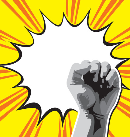 Vector illustration of fist held high in protest   Vector