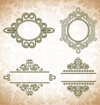 vector set: calligraphic design elements and page decoration frame Vector
