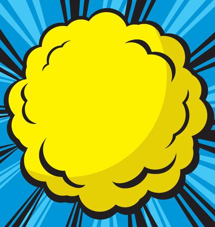 Comic  explosion design, vector illustration