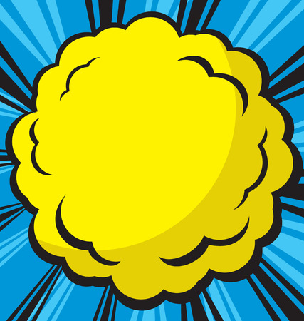 blowup: Comic  explosion design, vector illustration