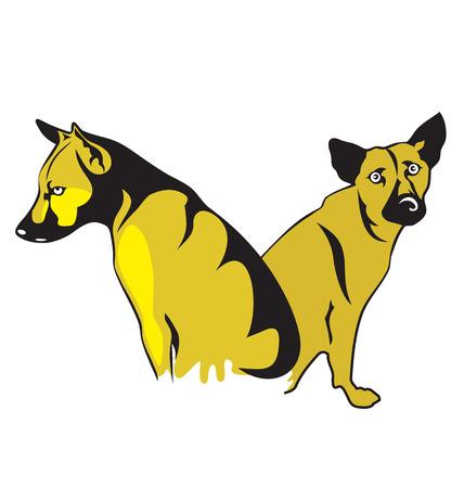 flabby: Vector illustration of stray dog