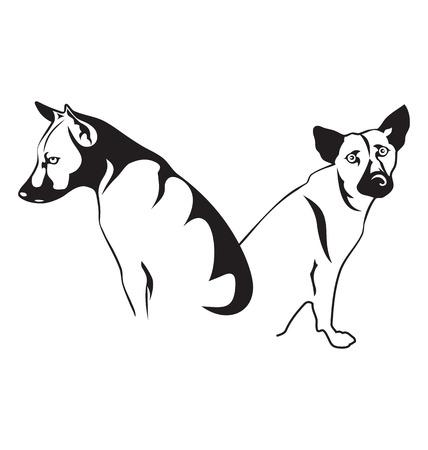 Vector illustration of stray dog Vector