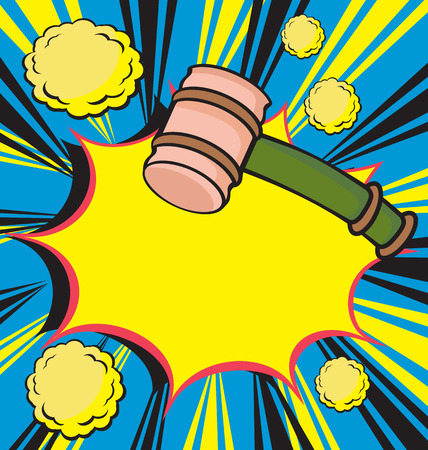 auction gavel: Auction concept with wooden gavel