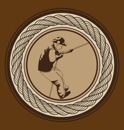 Vector illustratie van de padvinders Stock Illustratie