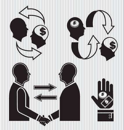 bestechung: Vektor-Illustration von Business-Symbol