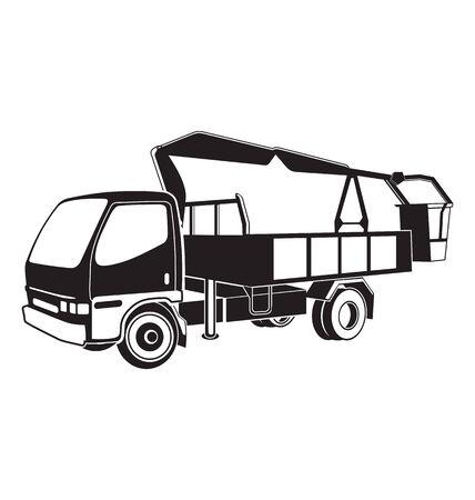 Vector illustration of bucket truck  Vector