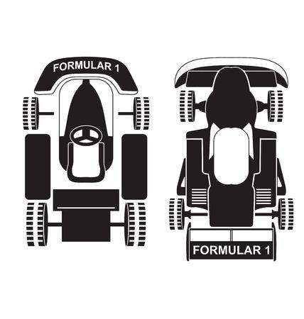bolide: Vector illustration of silhouette formula1