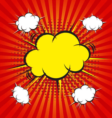 vector illustration of boom comic book explosion Vector