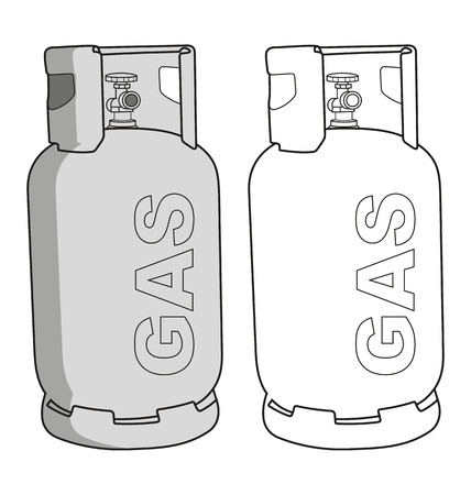 Vector illustration of  gas tank