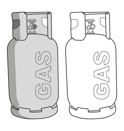 Vector illustration of  gas tank