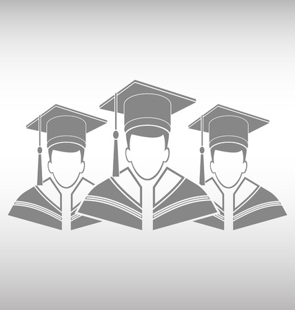 college graduation: College graduation gown Illustration