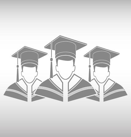 College graduation gown Illustration